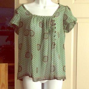 Zara short sleeve blouse